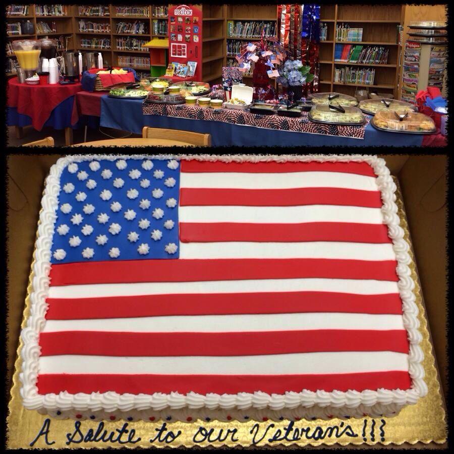 Veterans Day Cake Patriotic Cake