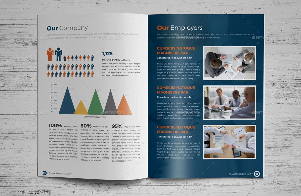 Annual Report Brochure Indesign Template 4 Report,