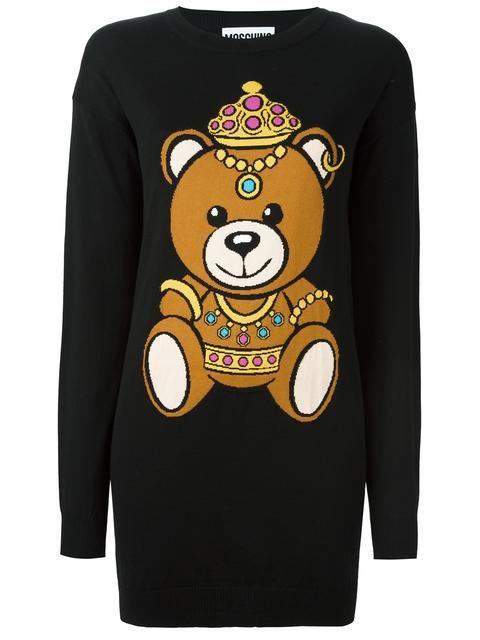 5ebc0e9c3cb MOSCHINO bear intarsia dress.  moschino  cloth  dress