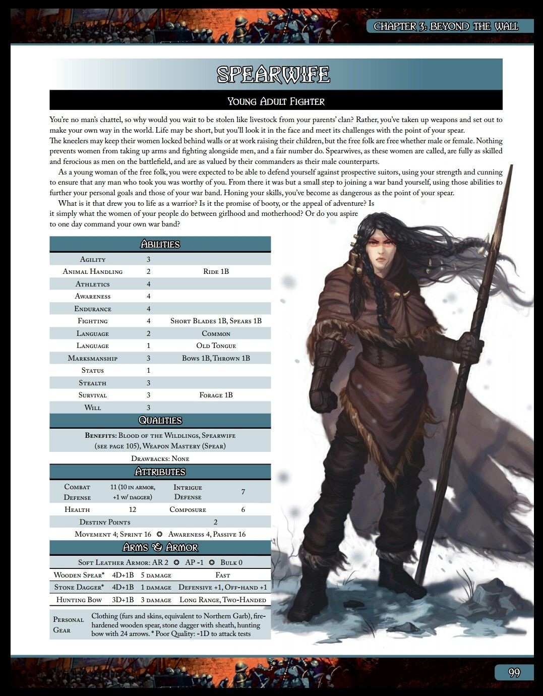 Spearwife (A Song of Ice and Fire Roleplaying Night's