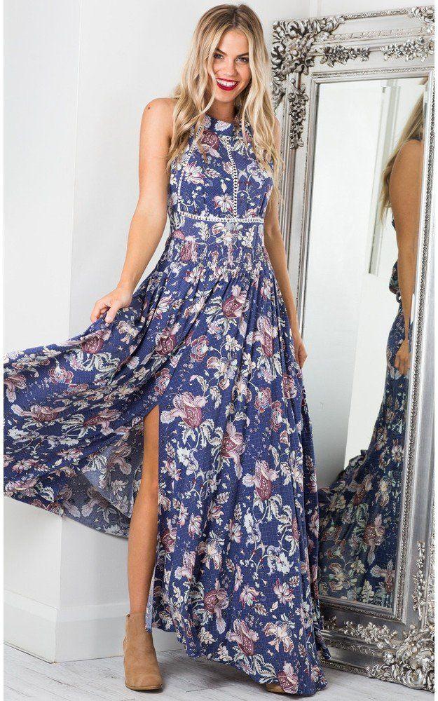 bbae4e45cfdc Showpo Run Alone maxi dress in indigo floral-18 (XXXL) Maxi Dresses ...