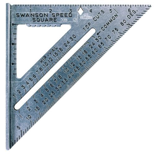 7 Inch Speed Square Swanson Carpenter Rafter Tool Angle Protractor Try Milter Speed Square Swanson Speed Square Square Tool