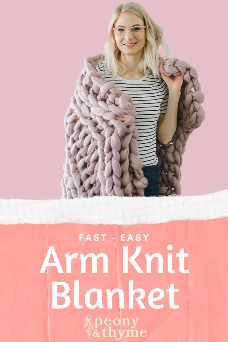 Fast and easy tutorial on how to arm knit a