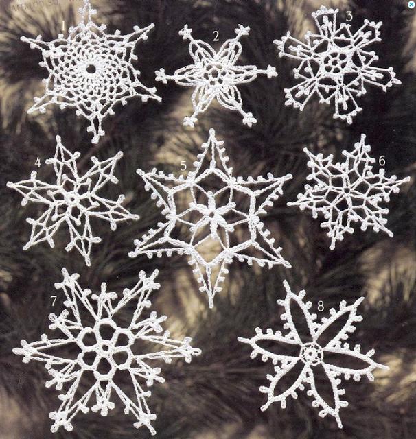 perfecta!: lectura de patrones de crochet: especial copos de nieve ...