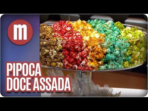 Pipoca doce colorida !!! Muito fácil de fazer: pipoca, açúcar, água, óleo e corante. - YouTube