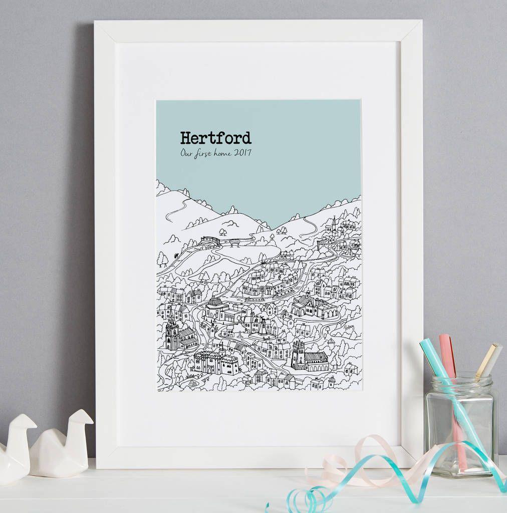 Personalised Hertford Print #preguntassevilla
