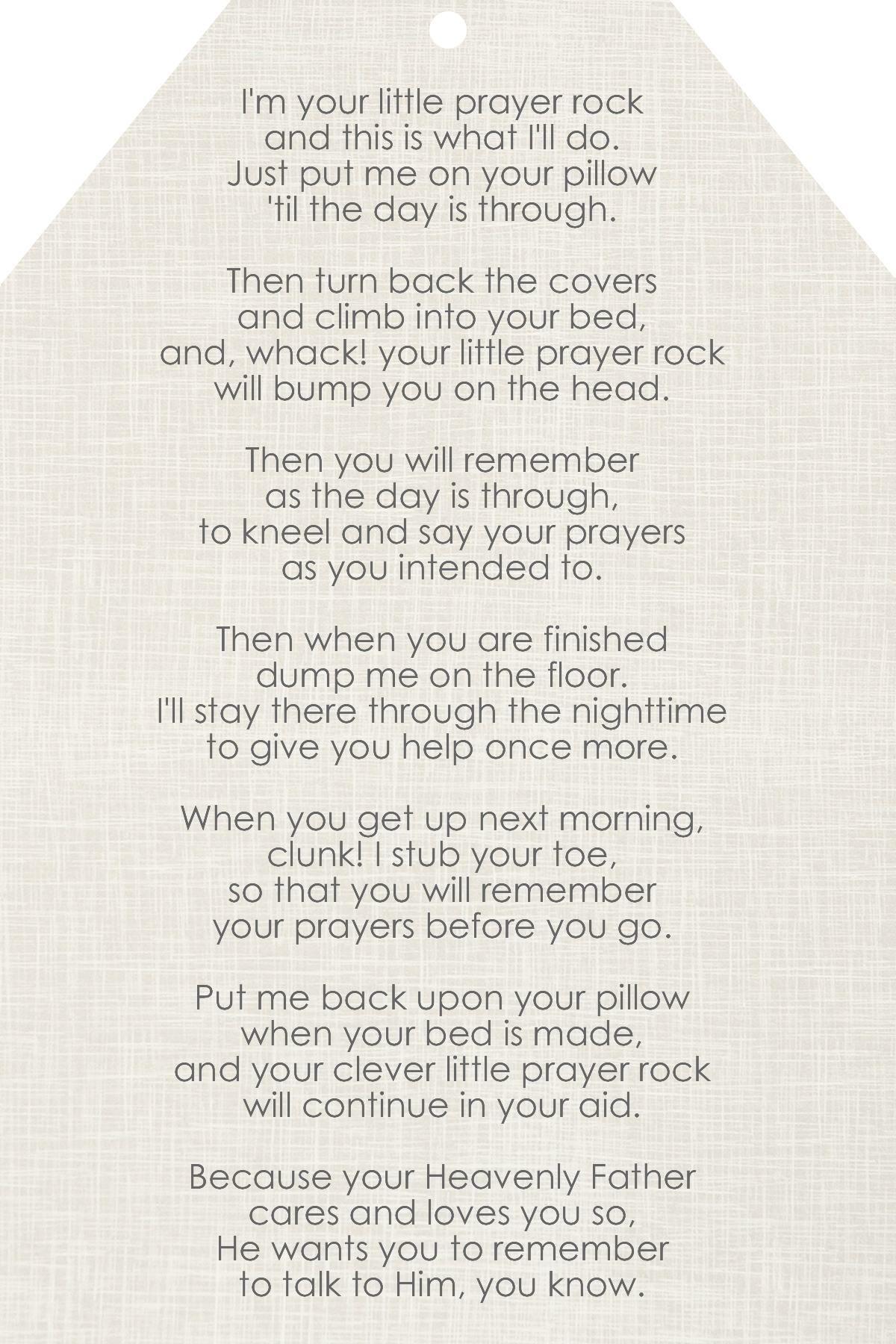Free Prayer Rock Printable