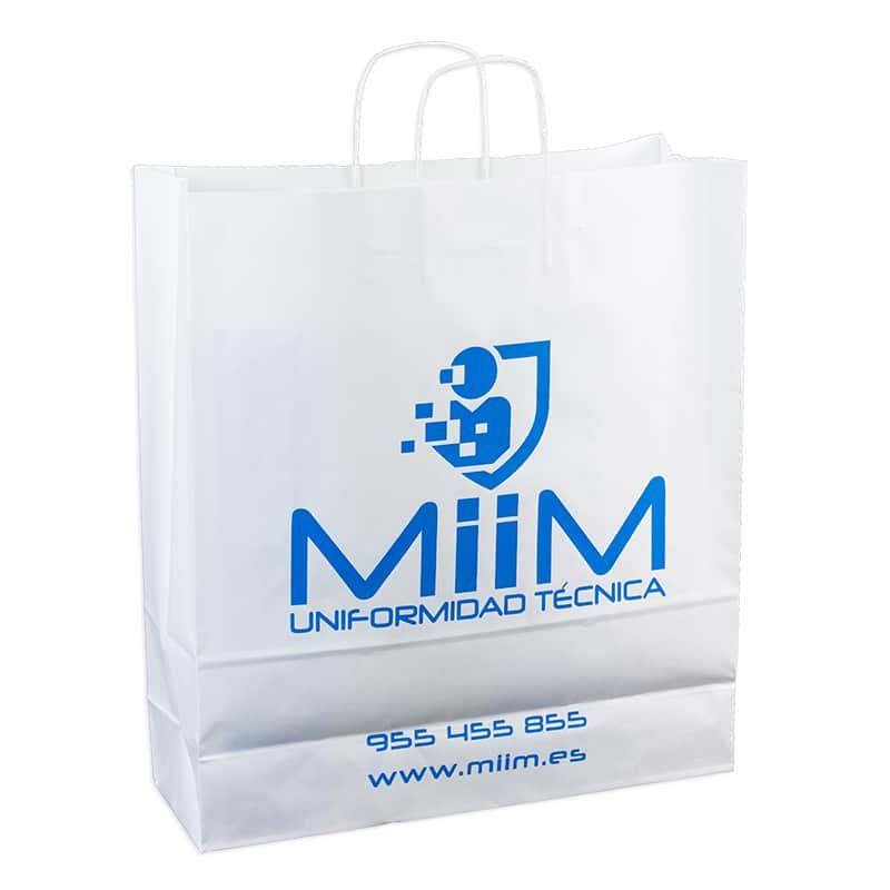 518c71207 Bolsas papel 44x15x49 cm. de celulosa impresa en azul | Bolsa ...