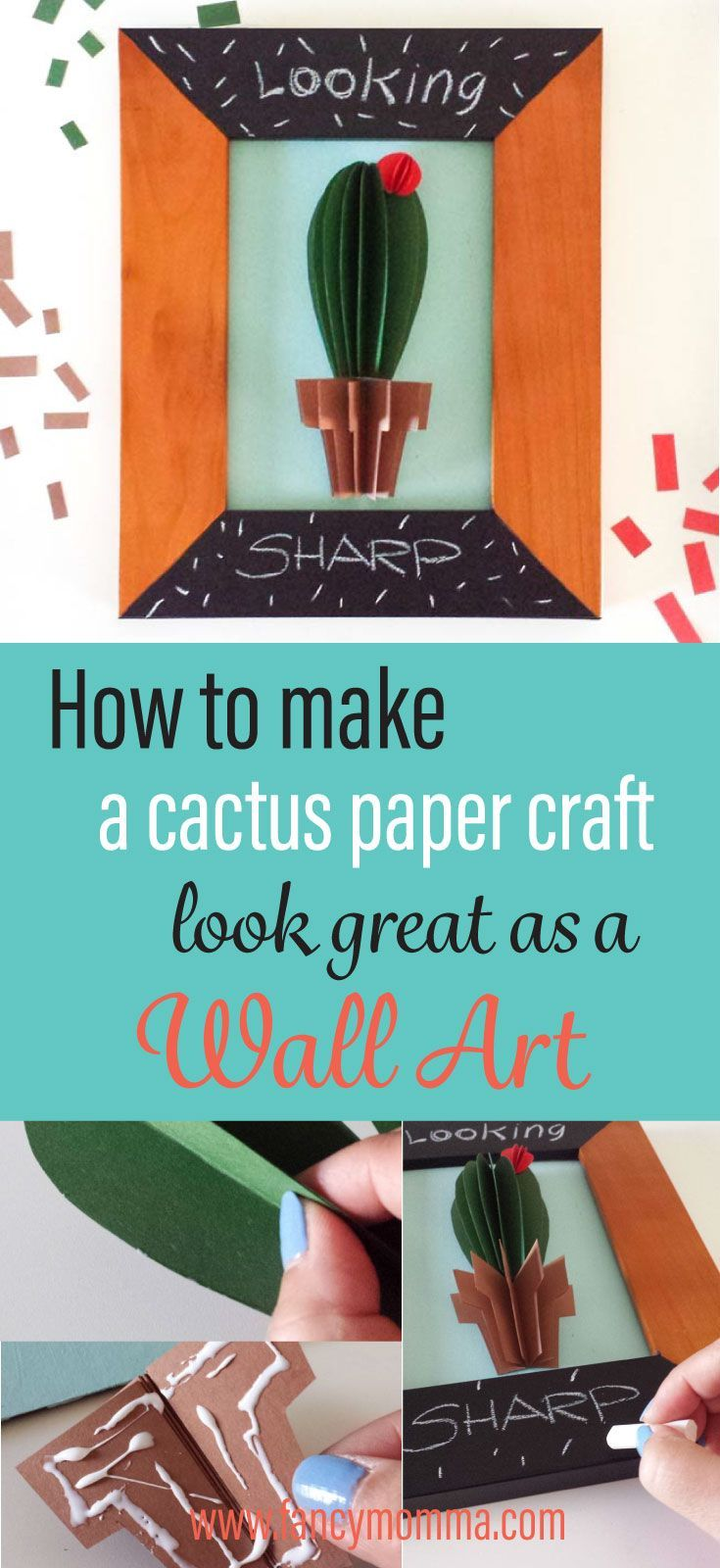 Cactus wall art diy make a paper craft that looks great as a wall