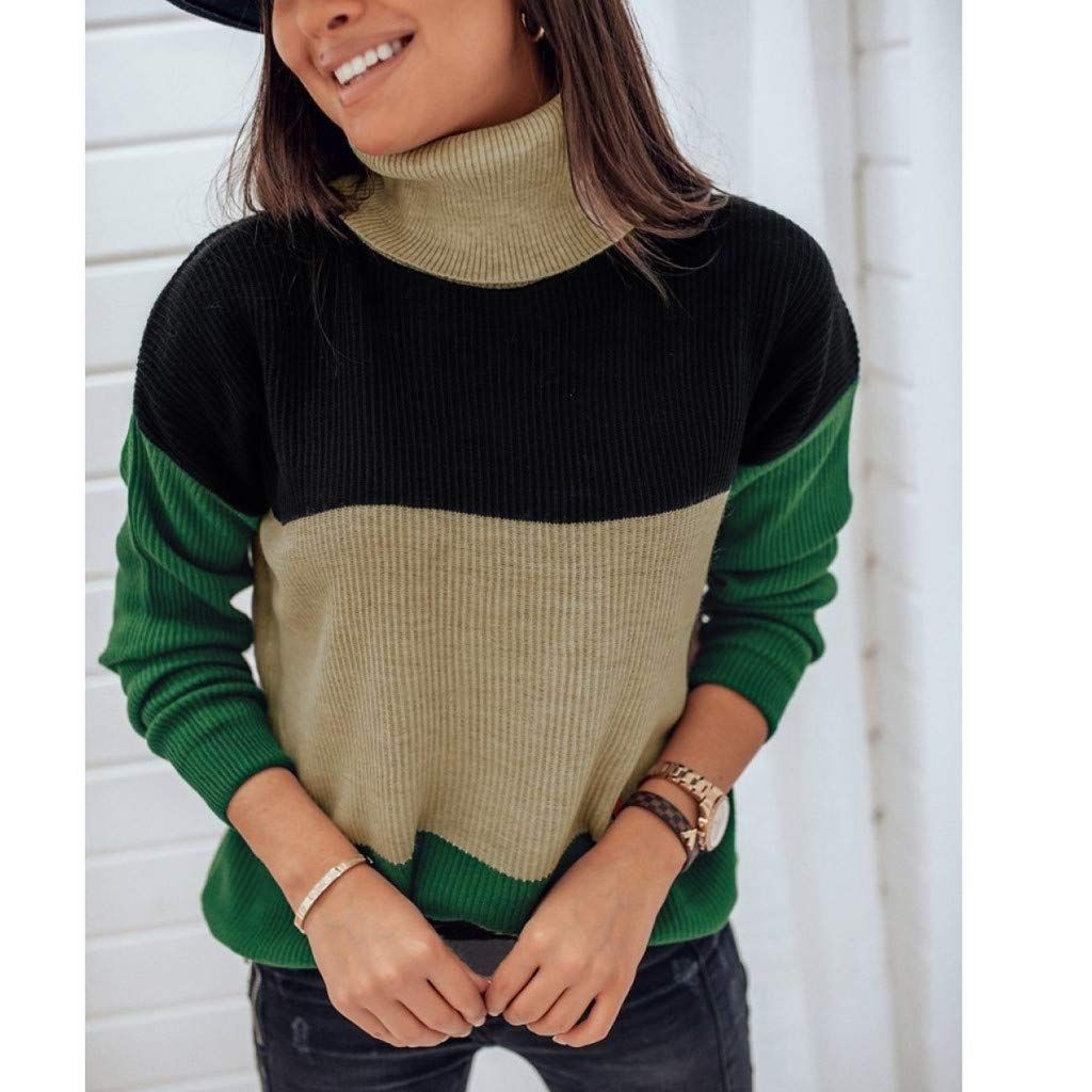 Quelife Autumn and Winter Women Sweater Slim-Fit Collar Bottom Pullover Sweater