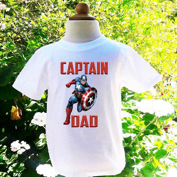 Captain America Dad Of The Birthday Boy Custom Shirt
