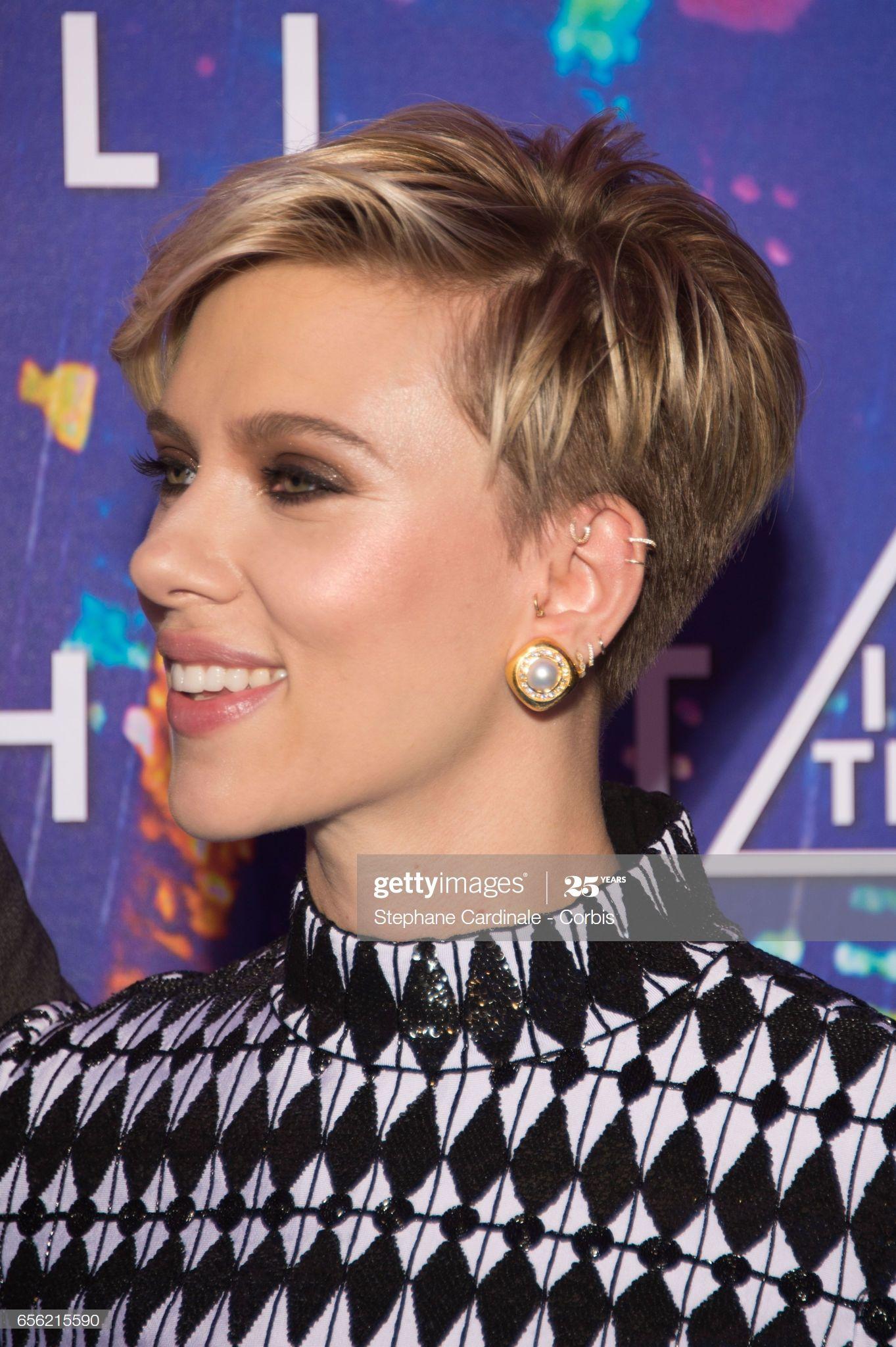 Actress Scarlett Johansson attends the Paris Premi