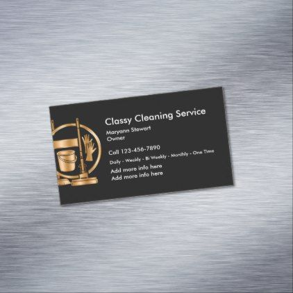 Classy cleaning services design magnetic business card classy cleaning services design magnetic business card professional gifts custom personal diy colourmoves
