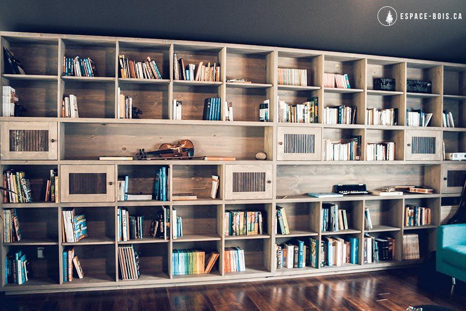 biblioth que murale maison id e pinterest biblioth que murale murale et d coration fran aise. Black Bedroom Furniture Sets. Home Design Ideas
