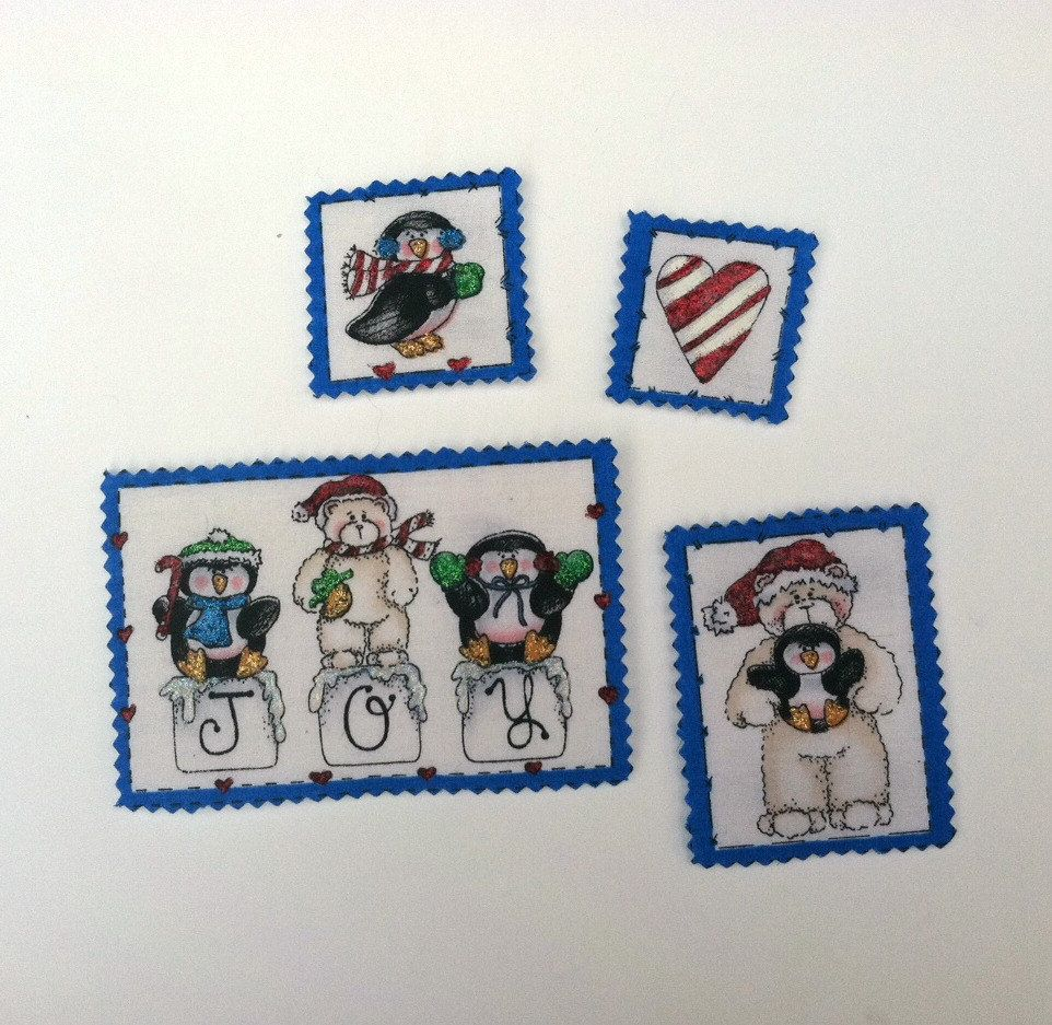 Christmas Decor Magnets Christmas Penguins by CountryCraftsnflower