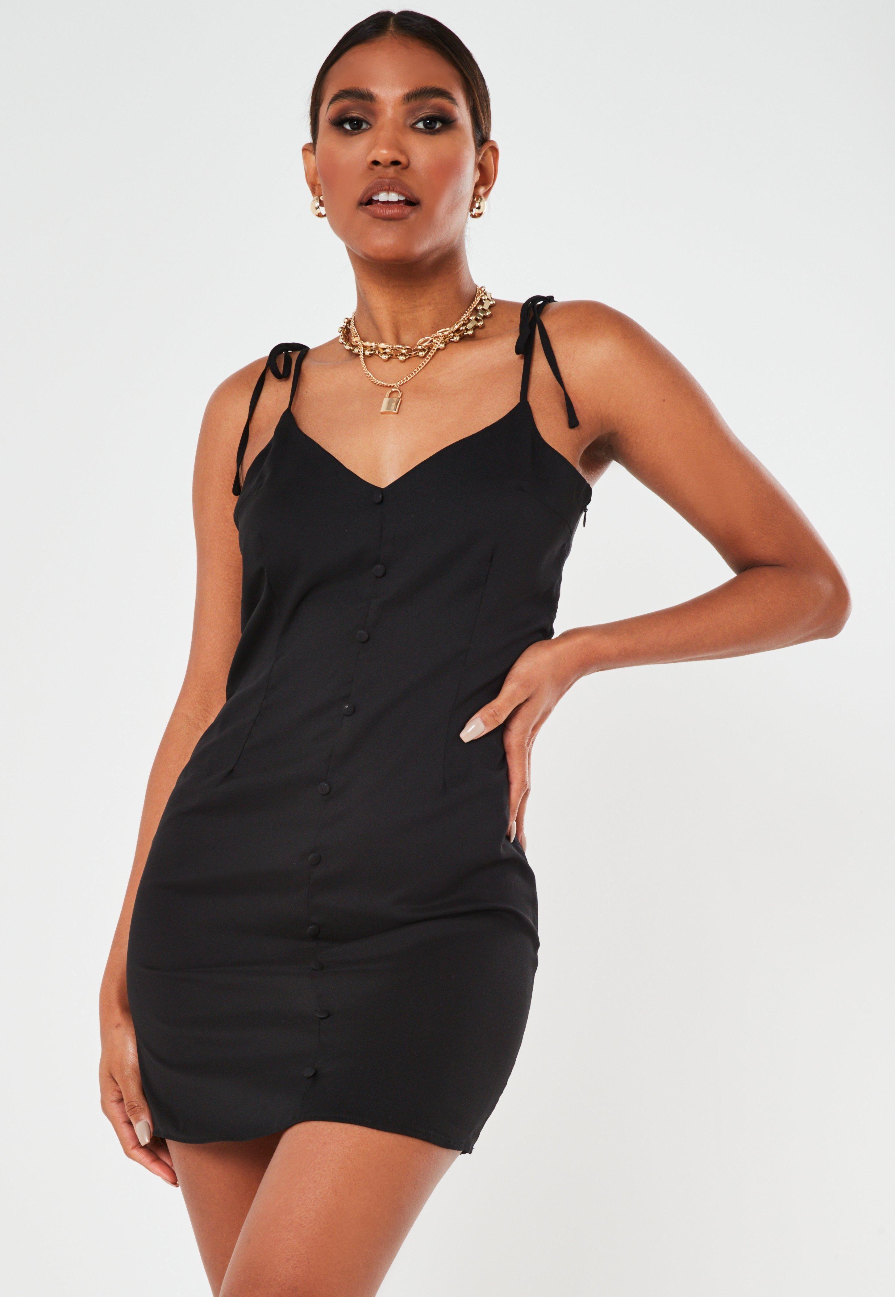 Black Button Through Slip Dress Sponsored Button Affiliate Black Dress Trending Dresses Mini Slip Dress Mini Cami Dress [ 4200 x 2900 Pixel ]