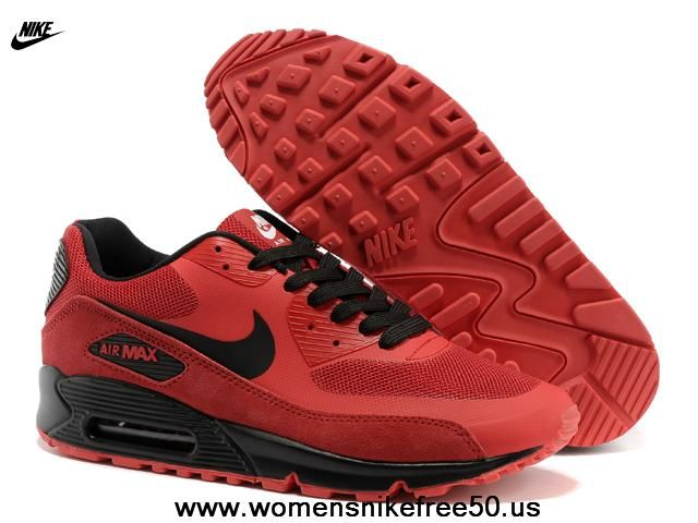 acheter populaire c3424 61e73 Red/Black Nike Air Max 90 Hyperfuse Mens Trainers   Nike ...