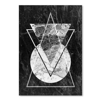 Americanflat Geo Triangles Poster Gallery by LILA + LOLA Graphic Art