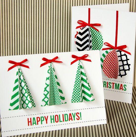 Ideas diy felicita la navidad con las tarjetas m s - Tarjetas originales navidad ...