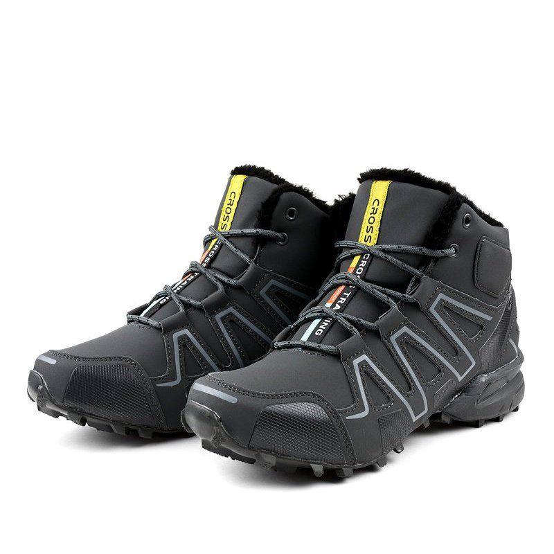 Szare Obuwie Trekkingowe Ocieplane Bn8810 Trekking Shoes Shoes Hiking Boots
