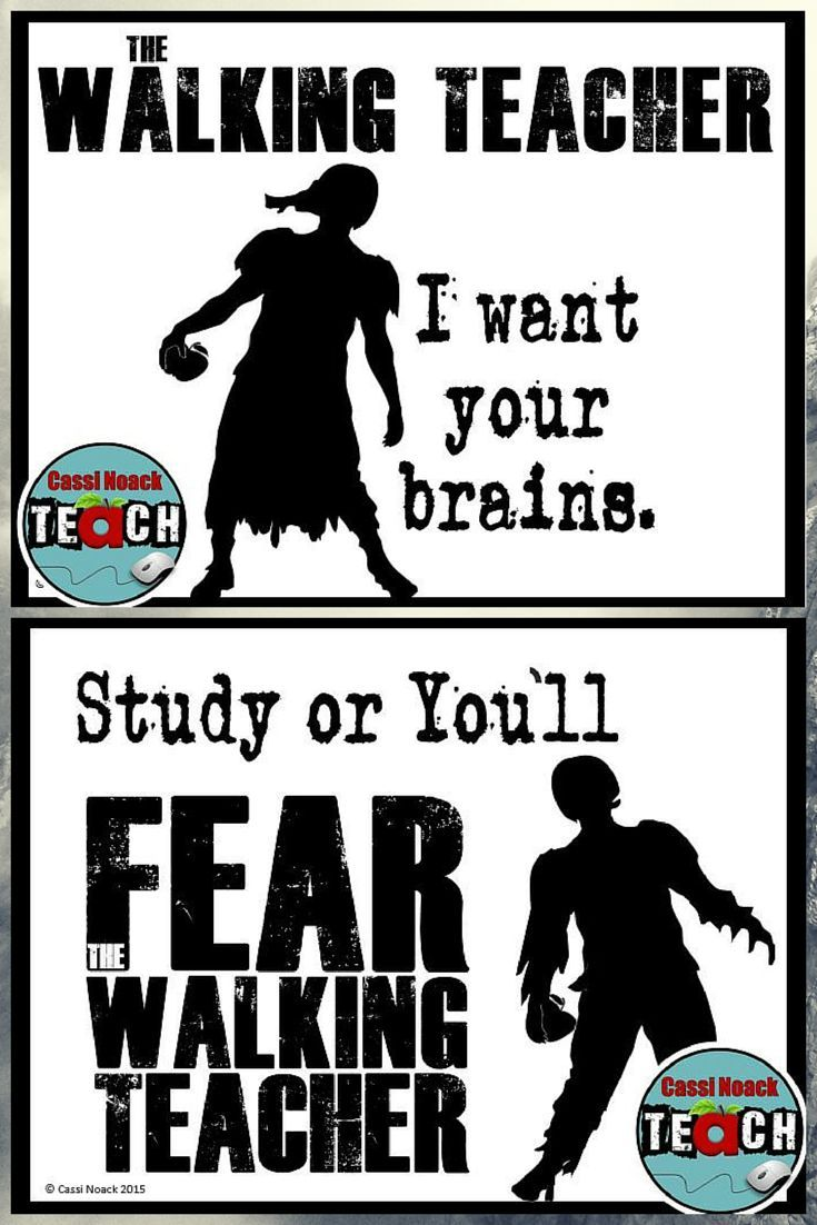 Zombie Posters The Walking Teacher 2 Free Posters Middle School Lesson Plans Upper Elementary Math Middle School Lessons [ 1102 x 735 Pixel ]