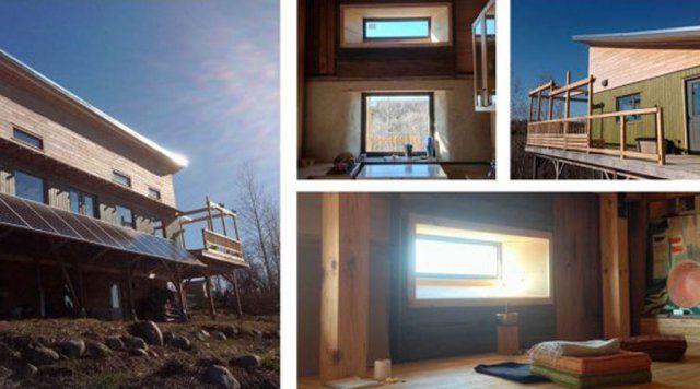 Murs en paille, autoconstruction, maison nette zéro solaire passive