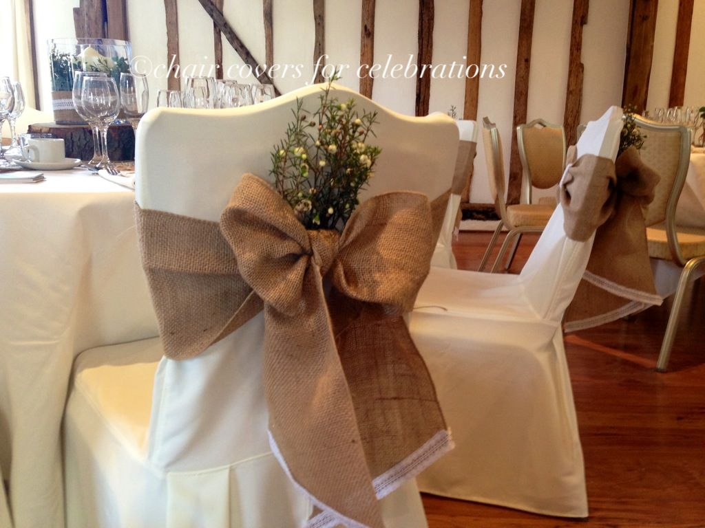 Burlap Chair Covers For Folding Chairs Low Patio Sashes Jute Hessian Pinterest