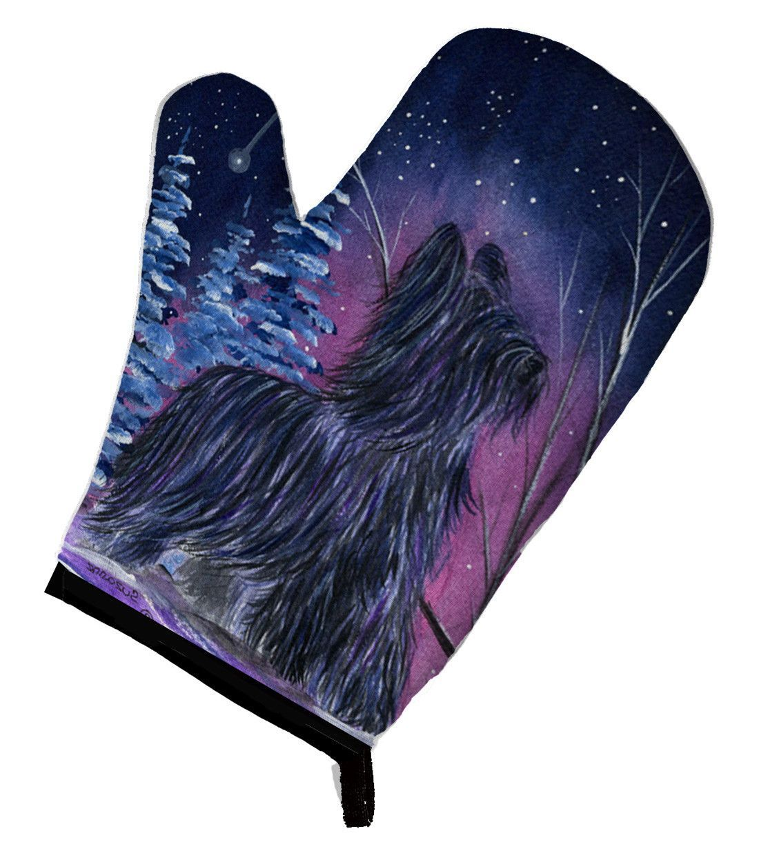 Starry Night Briard Oven Mitt