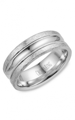 Crown Ring Mens Wedding Band WB 024C8W Product Image