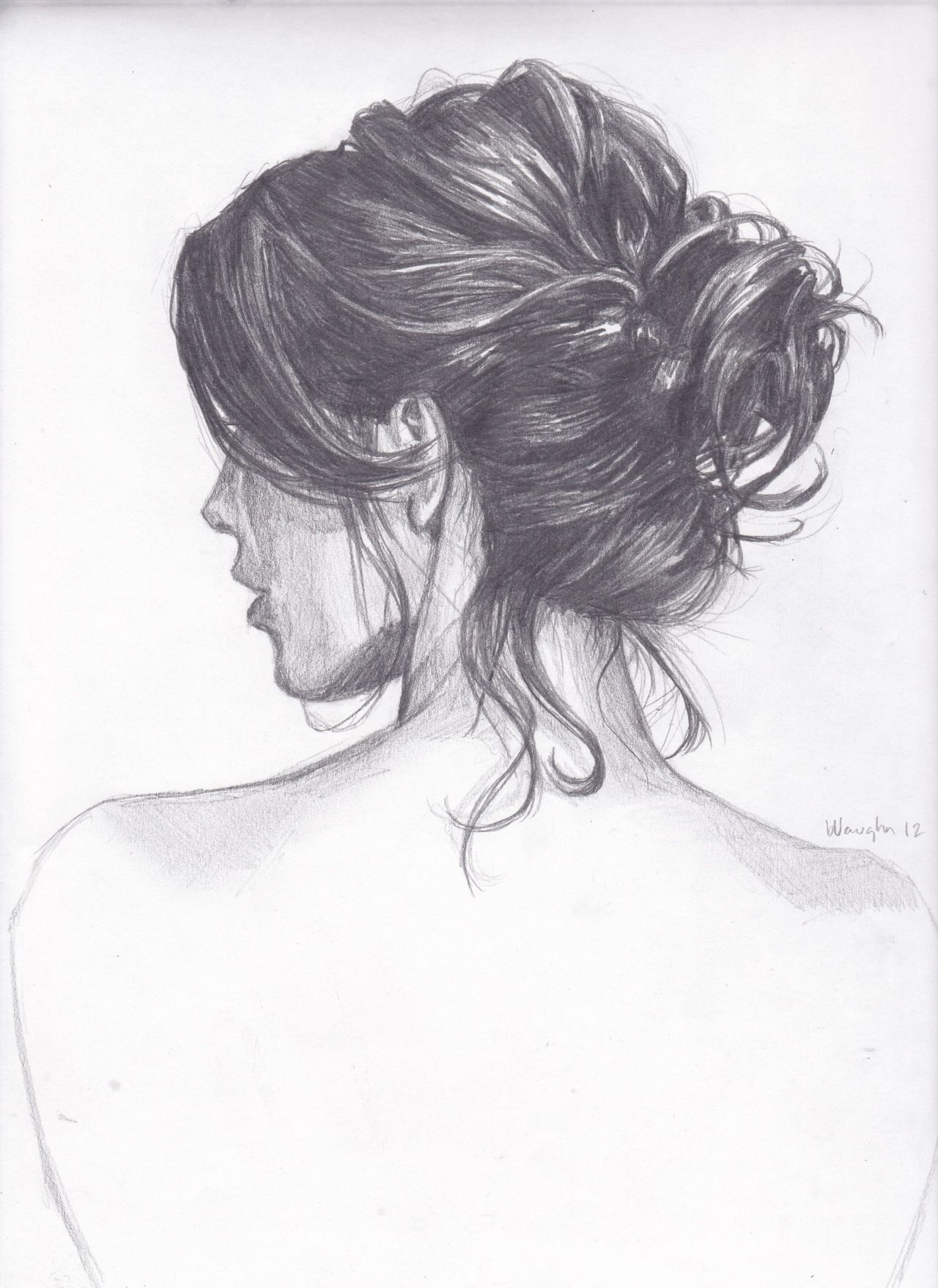 Pin By Ashlie Jackson On Hair How To Draw Hair Art Sketches