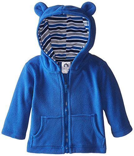 c92b86d2f Gerber Infant Boys Hooded Micro Fleece JacketBlue24 Months ...