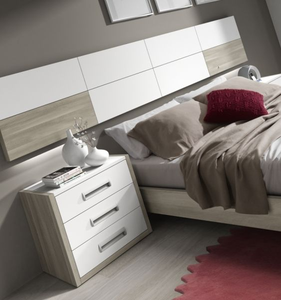 Matrimonio Bed Info : Dormitorio de matrimonio cabezal colgado niebla y blanco
