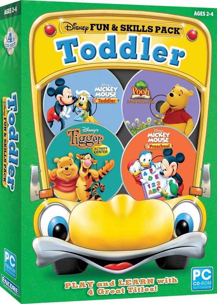 SEALED NEW Disney Fun \ Skills Pack Toddler PC Computer Software - computer software skills