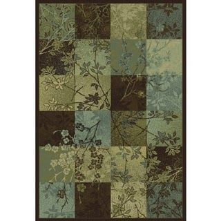 Blue Brown Gray Green Rug