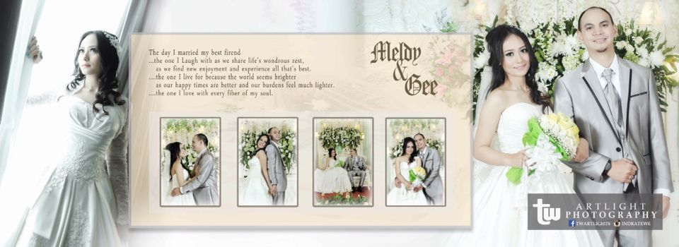 Background Wedding Album Kolase 1