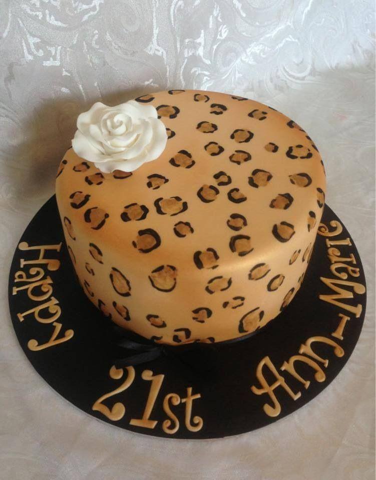 Leopard Print Birthday Cake Female Birthday Cake 21st Birthday Cake By Cake By Kylie Www Cakeby Geburtstagskuchen Frauen Kuchen Ideen Geburtstagskuchen Ideen