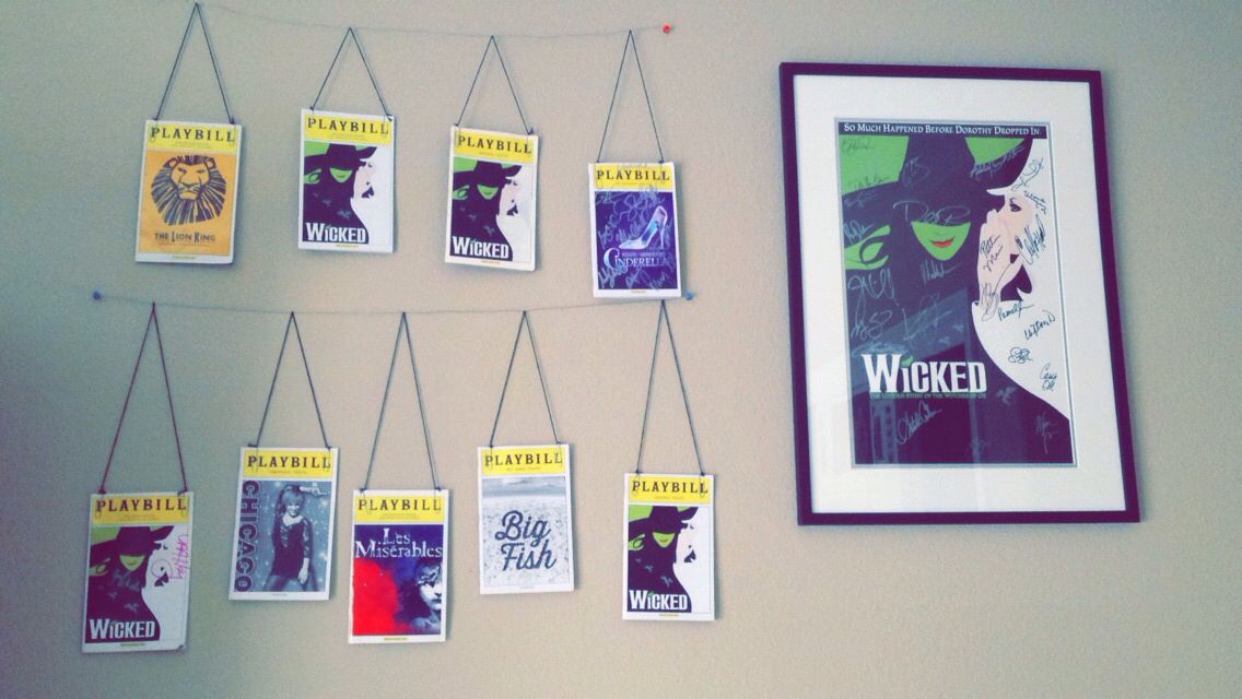 A Creative Way To Hang Up Stuff Such As Playbills Photos