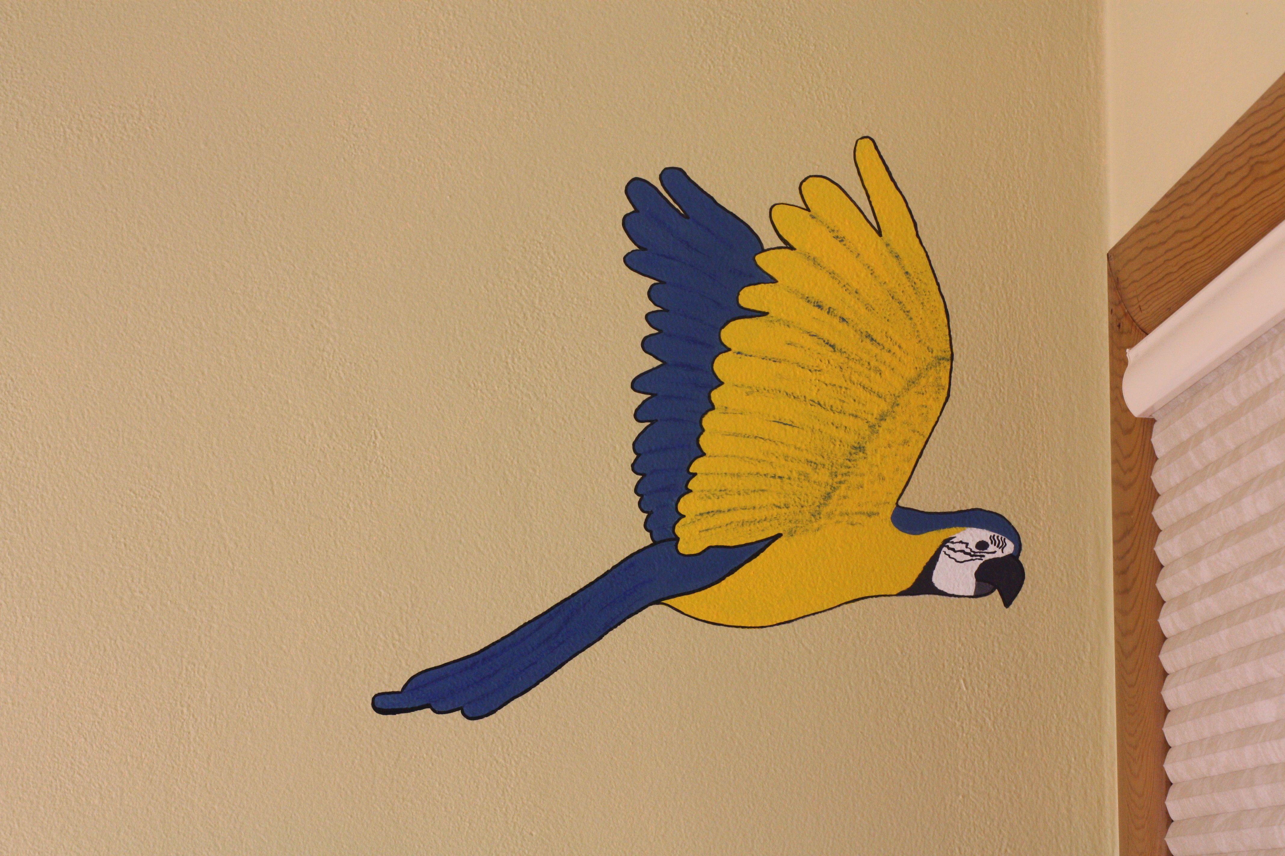 Parrot. | Room Decoration | Pinterest | Jungle theme