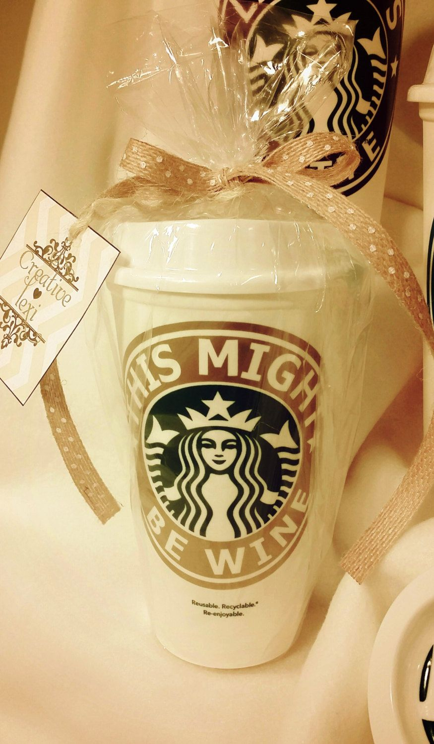 Personalized Starbucks Plastic Coffee Cups with