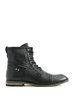Eagan Lace-Up Boots at Guess