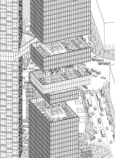 Architectural Drawings Of Skyscrapers axonometric high rise: skyscraper | buildings - home sweet home