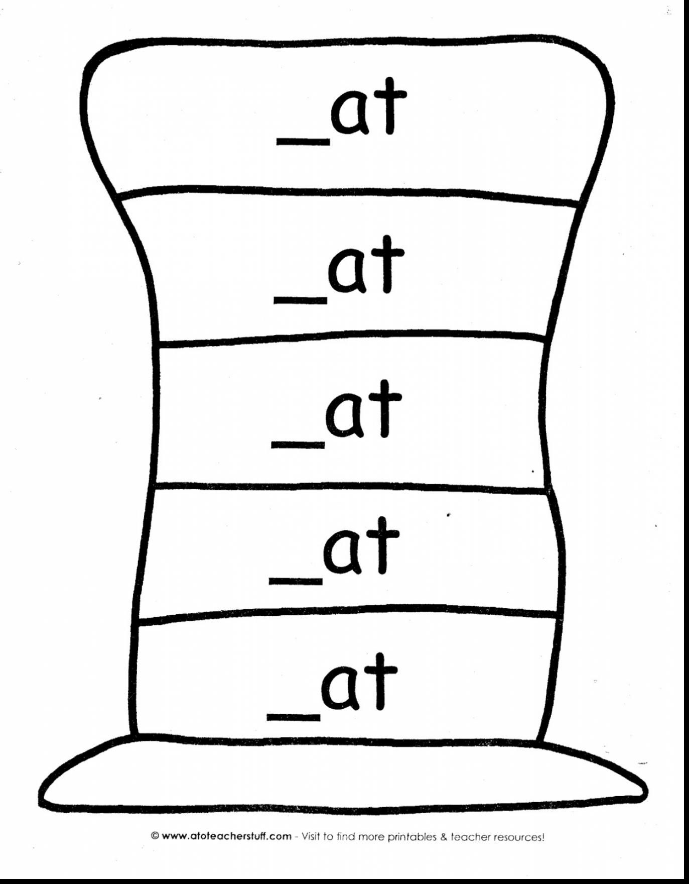 Good Dr Seuss Hat Coloring Pages With Cat In The Hat