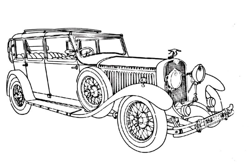 vintage_cars_15 Adult coloring pages | Cars coloring pages ...