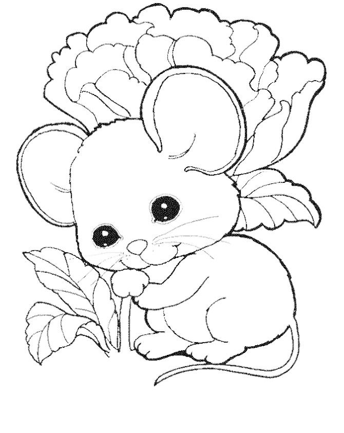Cute Mouse Coloring Pages Free | Kids Coloring Pages | Cute mouse ...