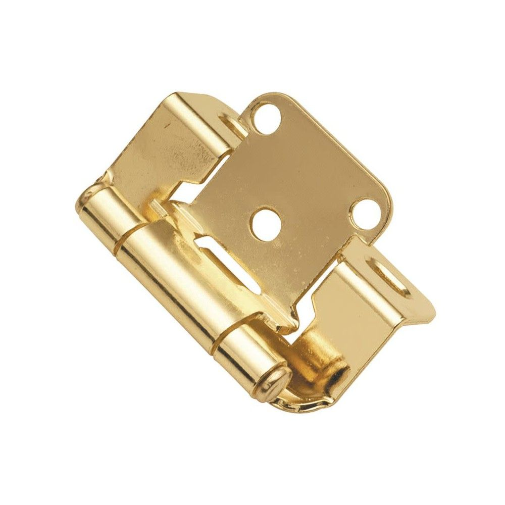 Hickory Hardware P2710f 1 2 Overlay Wrap Cabinet Door Hinge Polished Brass Hickory Hardware Hinges For Cabinets Overlay Hinges