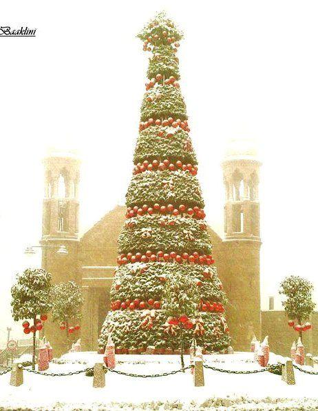 Christmas Tree Dhour Chweir Al Metn District Qada Mount Lebanon Governorate Lebanon Christmas Tree Christmas Holidays Beautiful Christmas Trees