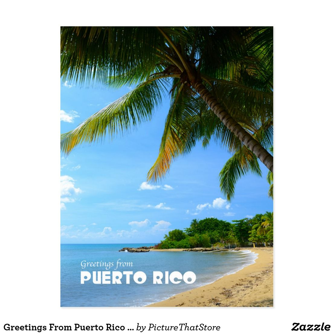 Greetings from puerto rico postcard puerto rico gifts from greetings from puerto rico postcard m4hsunfo