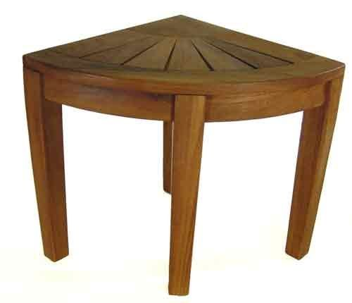 Aqua Teak - Teak Corner Stool | Home Decor | Pinterest | Teak ...