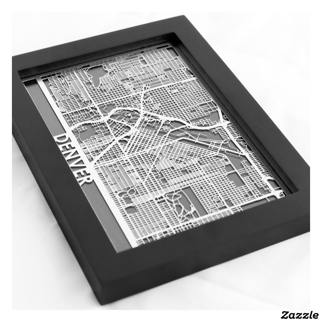 Map Of Paisley%0A     X     Stainless Steel Cut Denver City Map