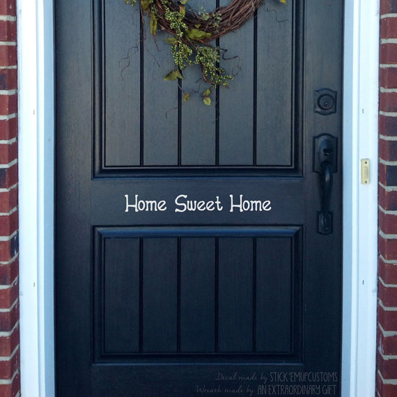 Home Sweet Home Front Door Or Wall Decal By StarstruckIndustries, $9.75